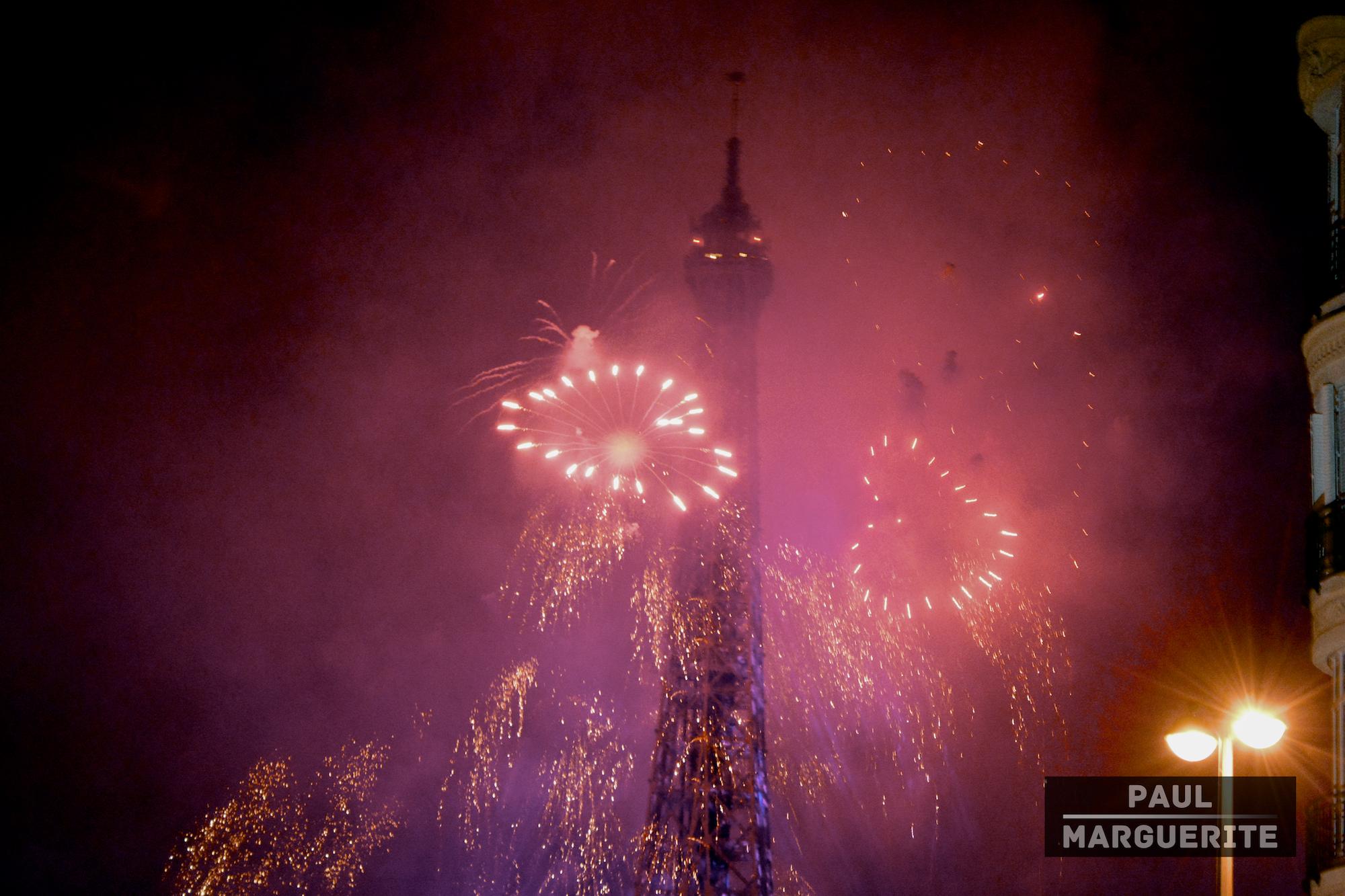 Feux d'artifices du 14 juillet à Paris